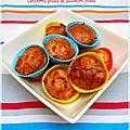 Mini muffins saumon fumé et crevettes grises