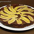 Gâteau moulin à vent chocolat banane