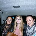 Celia, Margaux and I in a LONDON CAB