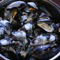 MOULES A LA CREME D'AIL