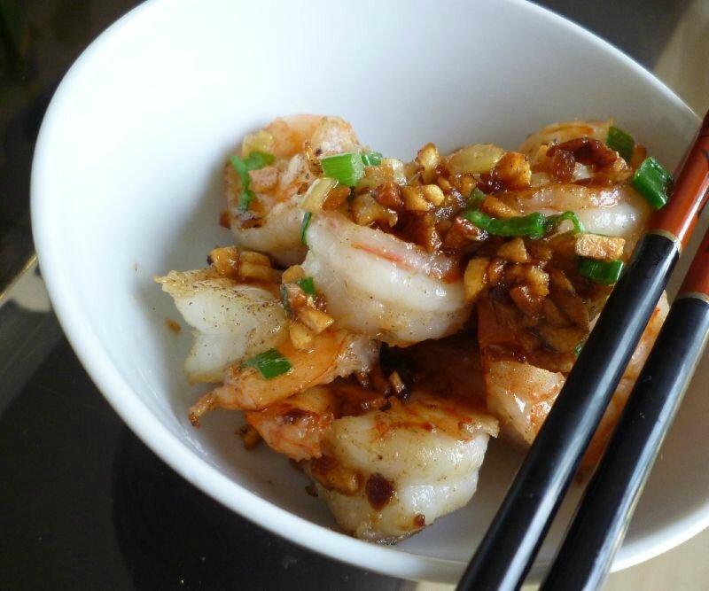 Crevettes asiatiques (piment et ail)