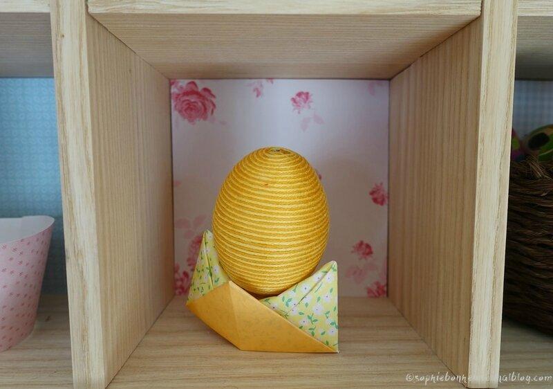 Pâques casiers oeuf fils