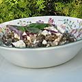 Salade de lentilles à la menthe fraîche