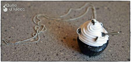 Sautoir Cupcake Noir et Blanc