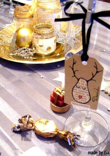 Tables de fêtes: marque-place tag récup'