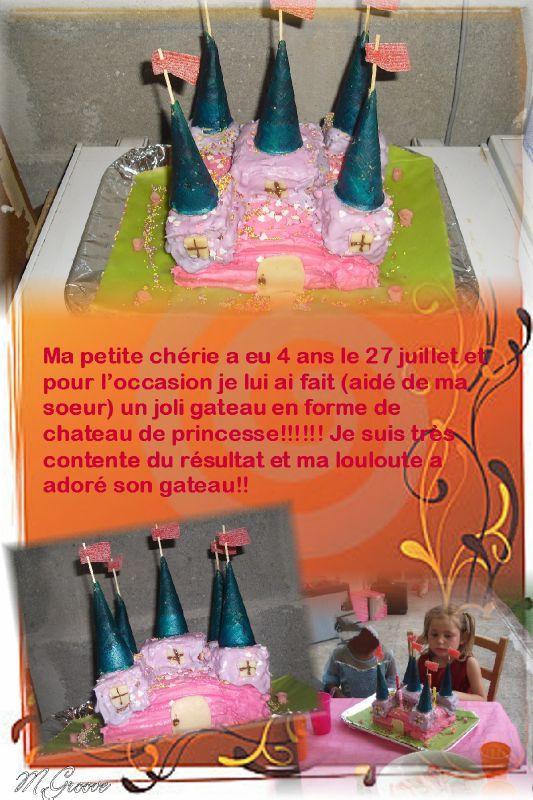 gateau chateau princesse azilize
