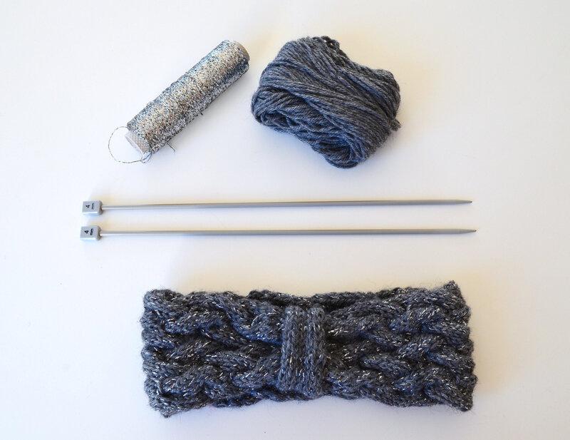 bandeau tricot- modèle une poule à petits pas-La chouette bricole (15)