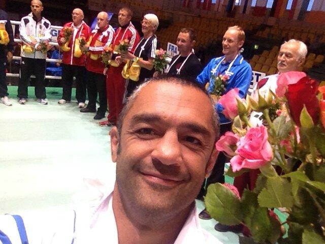 MMK lors d'un tournoi de boxe en Russie