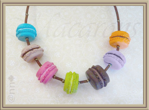 Collier macarons multicolore AC (N)