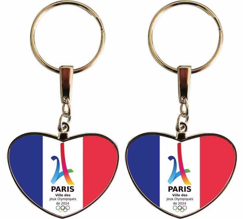 Porte-clés-coeur-PARIS-2024
