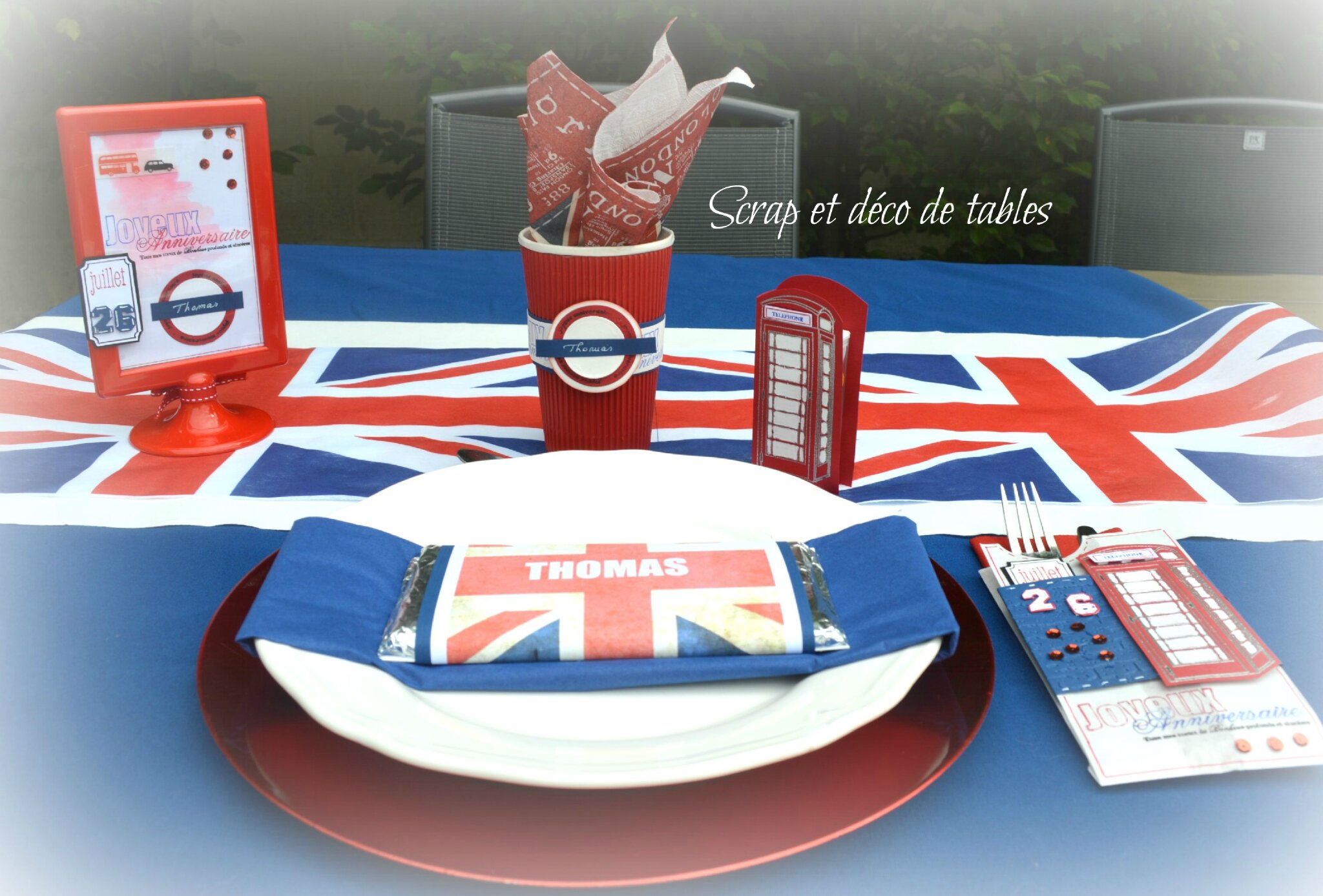 Deco de table sur le theme anglais londres scrap et - Debarrasser la table en anglais ...