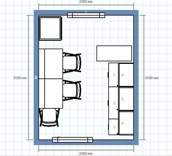 La cuisine la construction de notre cabinet param dical for Simulation implantation cuisine