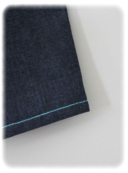 Défi bleu pantalon devant détail 2