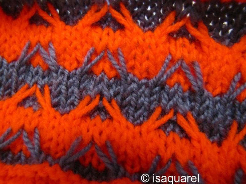 tricoter une maille glissee