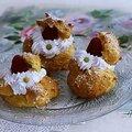 Mes choux crème pâtissière vanille et chantilly framboises......tout un programme de gourmandise....
