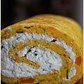 Gâteau roulé aux légumes du blog beau à la louche