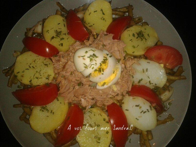 Salade haricot vert pomme de terre 5 pp - A vos fours avec