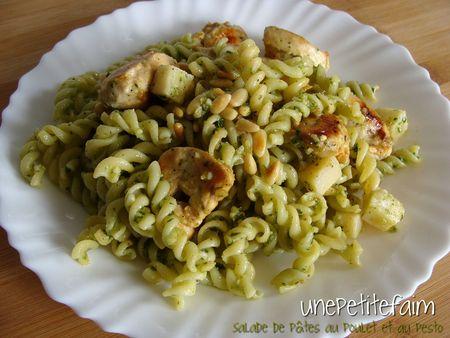 Salades pâtes poulet pesto