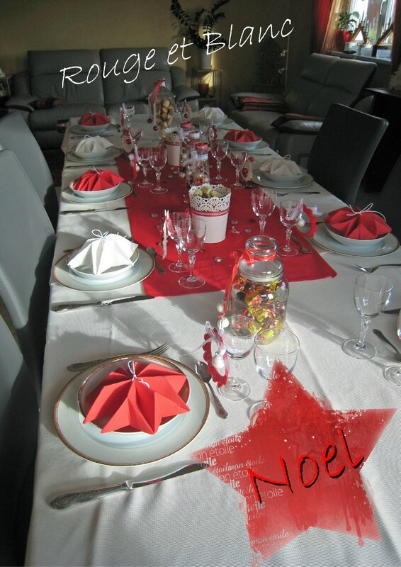 table rouge et blanc