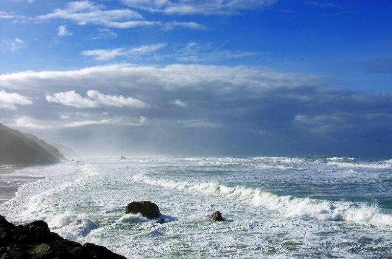 plage d'ilbarritz en hiver, biarritz