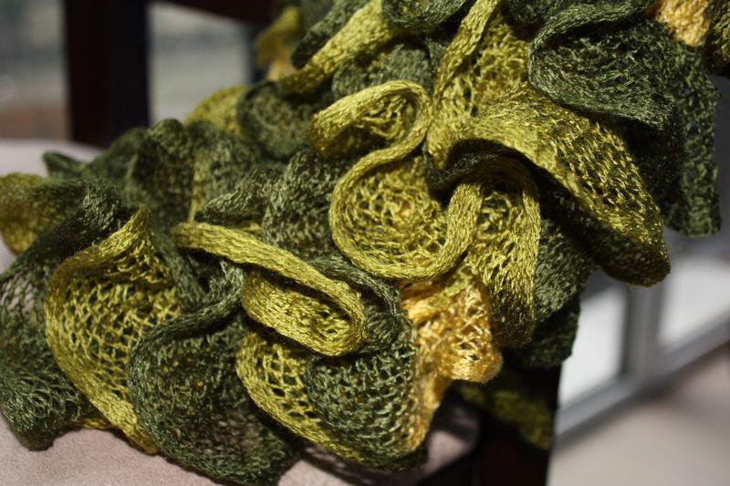 comment tricoter l'echarpe ondas