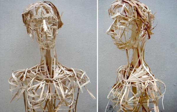 Sculpture bois de cagette