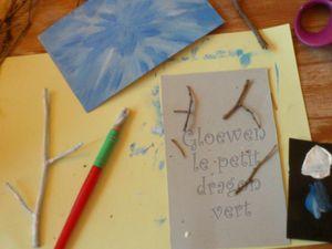 Idée cadeau de noël : carte de noël branches