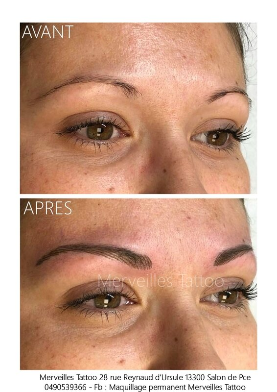 maquillage permanent aix, salon de provence, tatouage sourcils