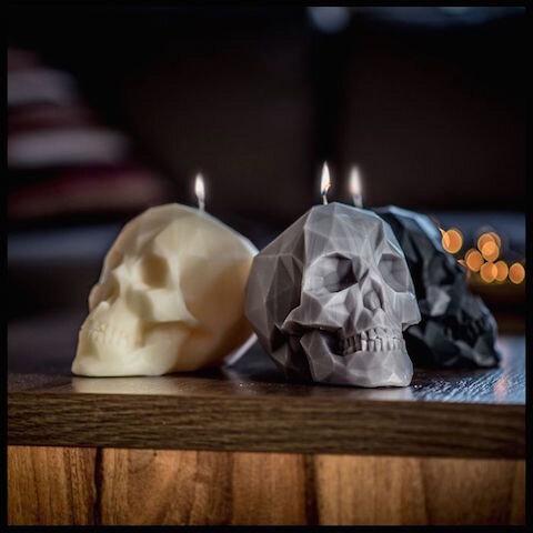 cadeaux folies bougie crâne 1