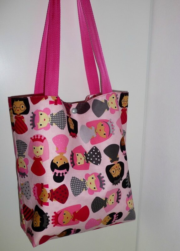 tote bag princesse PIKEBOU 7
