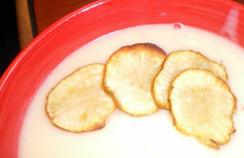 Cr me et chips de topinambour cuisiner avec ses 5 sens - Cuisiner des topinambours ...