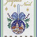 Échange ATC Chez Lysette Thème (Décorons le Sapin) Marie de Clessé pour Dominique 2