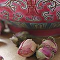 Curry vert de poulet à la thaï, riz parfumé à la rose
