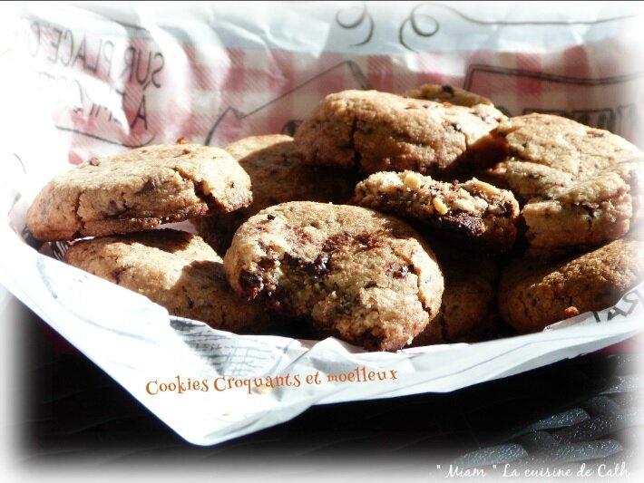 """ღ """" Miam """" Cookies croquants et moelleux { Fond de placard }"""