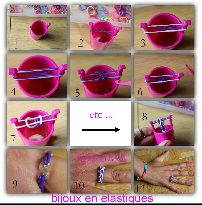 Tuto diy comment faire des bracelets avec des lastiques st phanie bricole - Comment faire les bracelet elastique ...