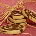Petit sablé chocolat vanille et beurre de cacahuète
