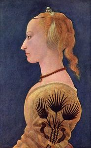 1465 BALDOVINETTI Alessio, Portrait of a Lady in Yellow
