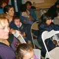 un público atento: las mamás invitadas...