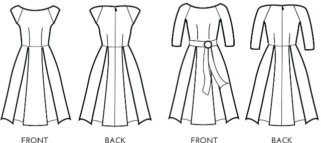 Simple Sew Patterns - Bardot