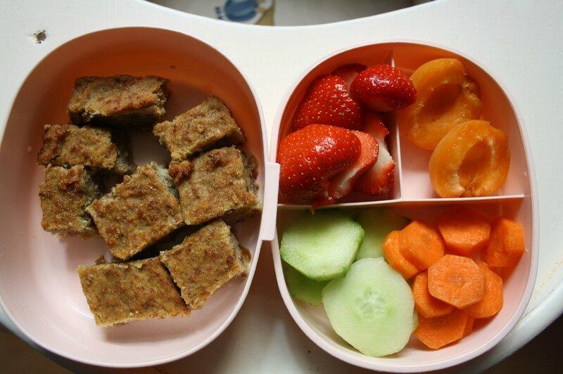 gâteau banane fraises abricots concombre carotte