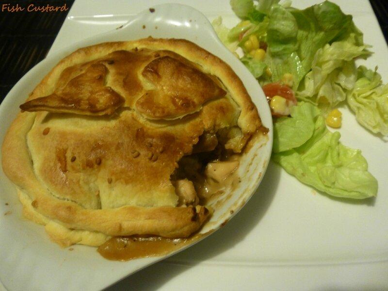 Tourte au poulet et aux champignons de Jamie Oliver (Chicken and mushroom pie)
