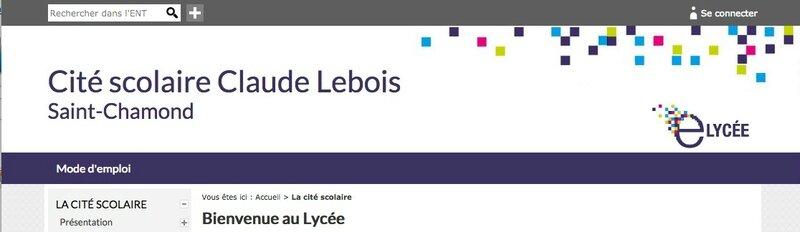 ENT lycée Claude Lebois