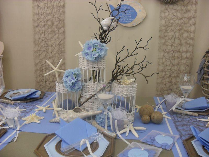 decoration table bapteme bleu et blanc. Black Bedroom Furniture Sets. Home Design Ideas
