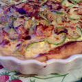Quiche courgettes brie