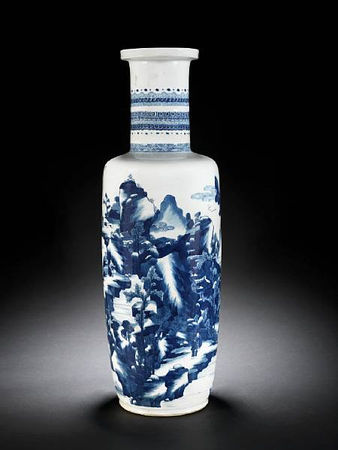 A_fine_large_blue_and_white_rouleau_vase