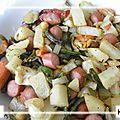 Poêlée de légumes aux knacks