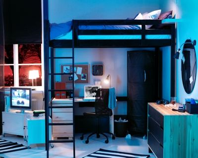 d coration chambre noir et bleu. Black Bedroom Furniture Sets. Home Design Ideas