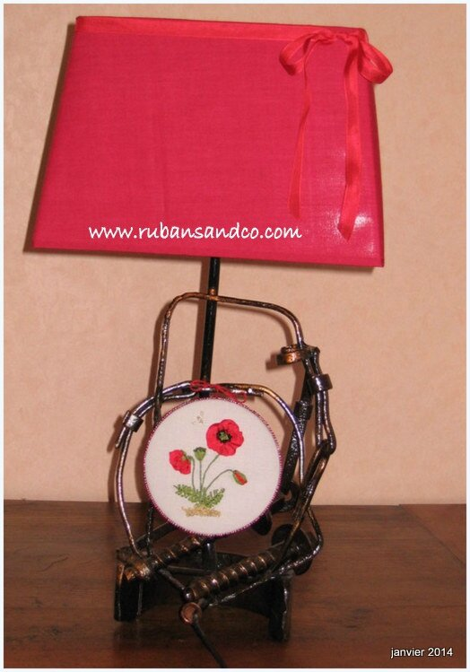 lampe rouge coquelicot