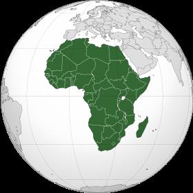 Afrique sur sphère