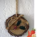Décorations de noël : petits rondins de bois